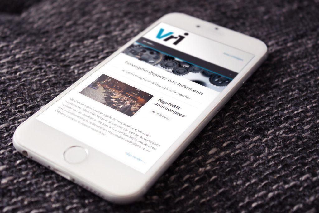 Mobile Vri website