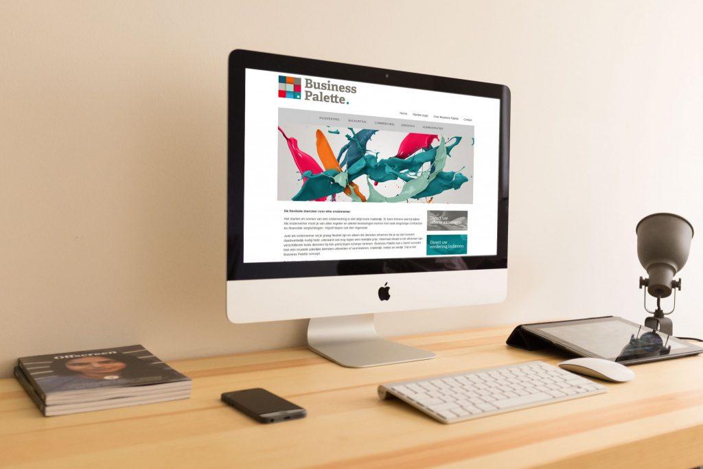 Businesspalette website design
